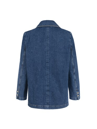 Lacivert Denim Daddy Blazer