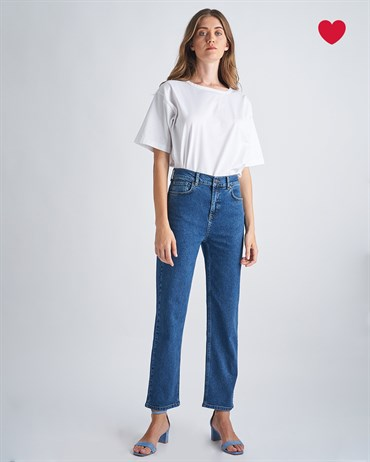 Loose Boot Cut Fit Lacivert